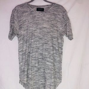 PacSun Women's Gray Long Flowy Shirt sz.Medium